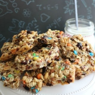 M&M and Raisins Homemade Granola Bars