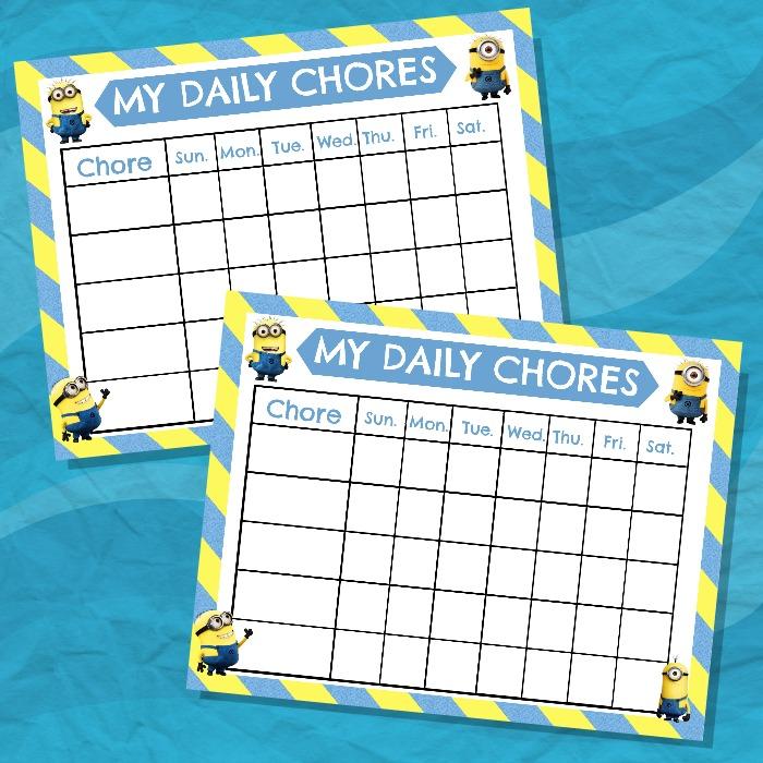 Minion Chore Chart Free Printable