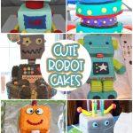 adorable robot cake ideas