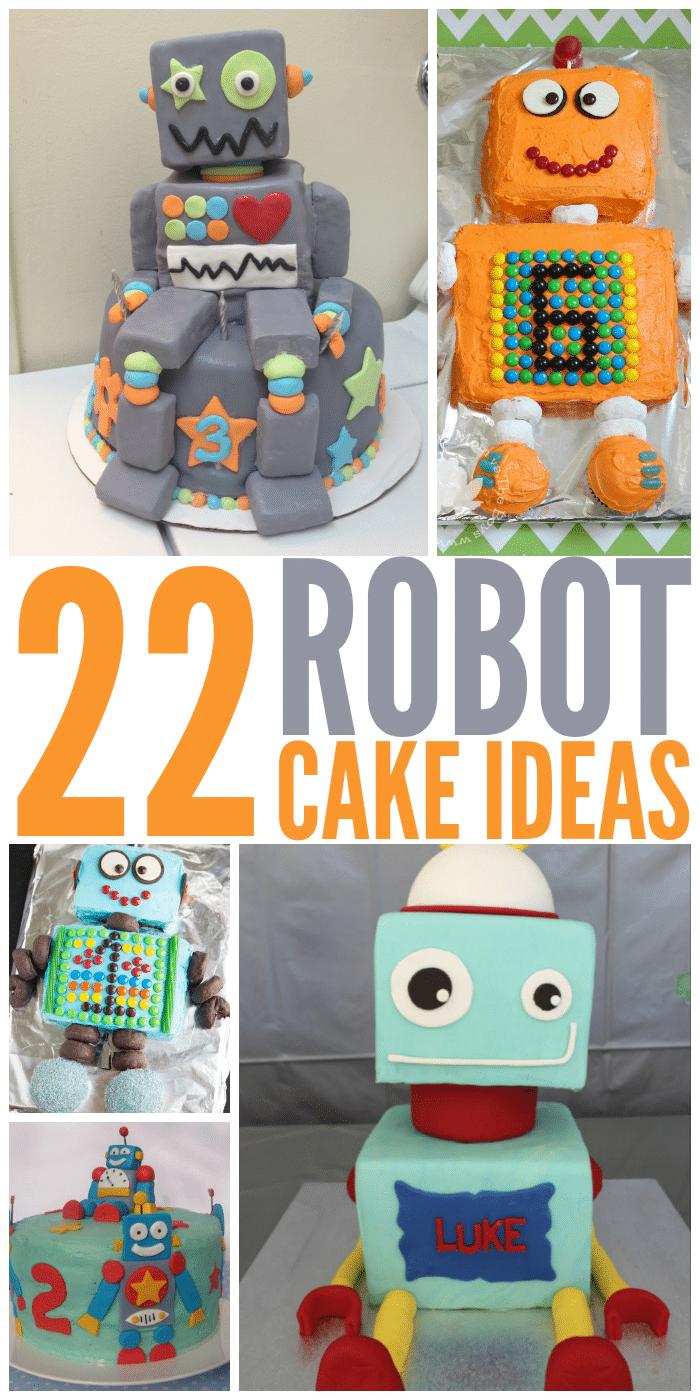 Robot Birthday Cake Tutorial