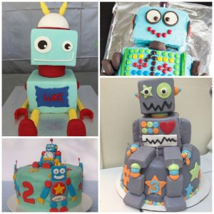 Super cool robot cakes