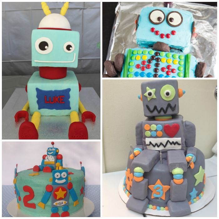 robot cakes square