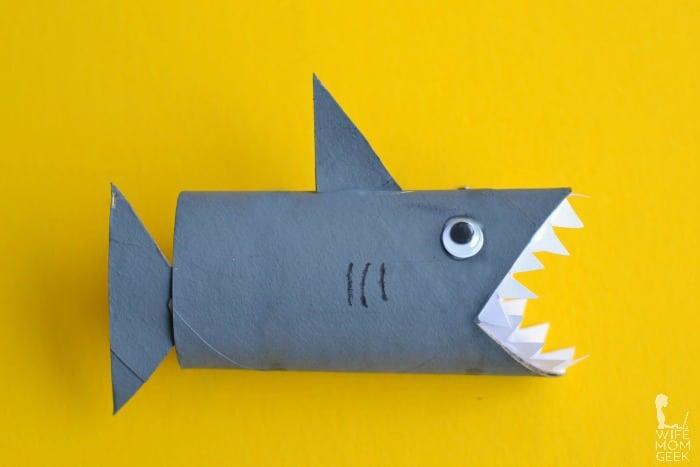 Toilet Paper Tube Shark Craft