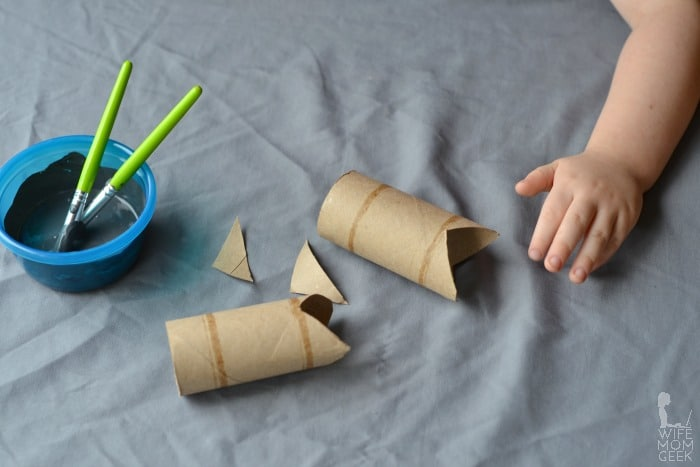 Shark Cardboard Tube Craft