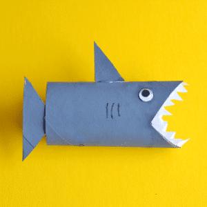 Toilet Paper Roll Shark Craft
