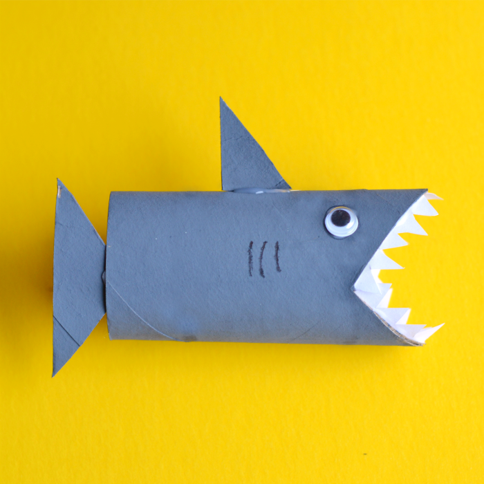Shark Toilet Paper Roll Craft