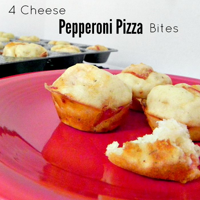 4 Cheese Pepperoni Pizza Bites - The perfect snack for your family