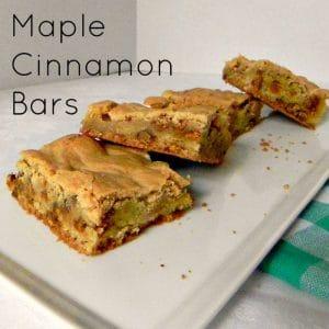 Maple Cinnamon Bars - the perfect fall cookie bar