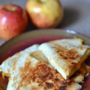 apple cheddar quesadillas pin 1