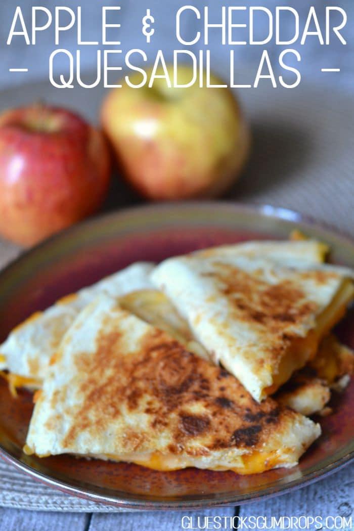 Apple Cheddar Quesadillas