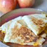 Apple and Cheddar Quesadillas