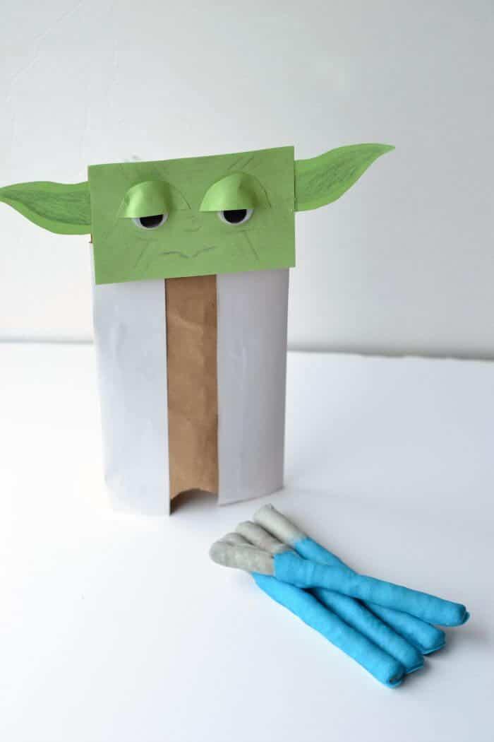 Yoda and Lightsaber Pretzels