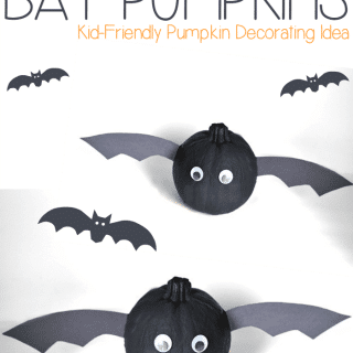 Bat Pumpkins No-Carve Jack-O-Lantern