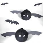 Bat Pumpkins – A No-Carve Pumpkin Decorating Idea