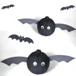 Bat Pumpkins – A No-Carve Pumpkin Decorating Idea