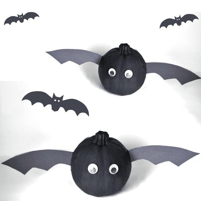 Bat Pumpkins No Carve feature