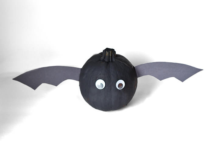 Halloween Bat Craft Pumpkin Decorating Idea