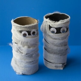 Toilet Paper Roll Mummy Craft
