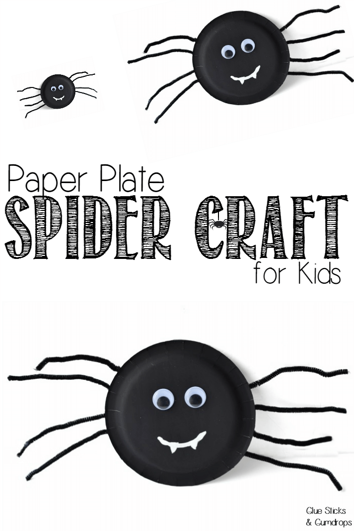 Paper Plate Spider Craft for Kids