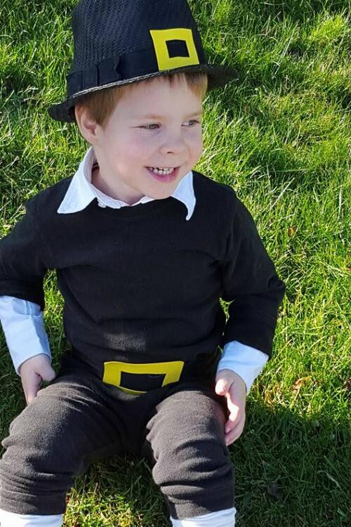Easy diy pilgrim costume glue sticks and gumdrops diy pilgrim costume 1 solutioingenieria Choice Image