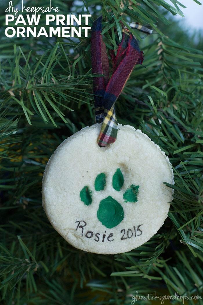 DIY Keepsake Paw Print Ornament