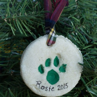 DIY Paw Print Keepsake Ornament