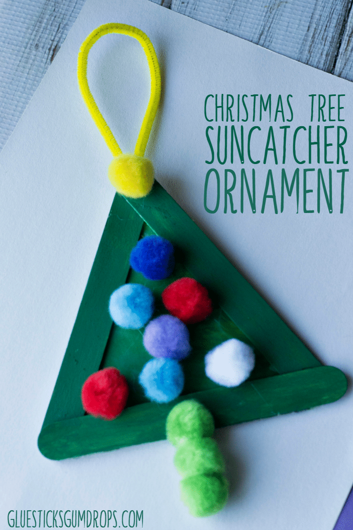 Christmas Tree Suncatcher Ornament Kid Craft
