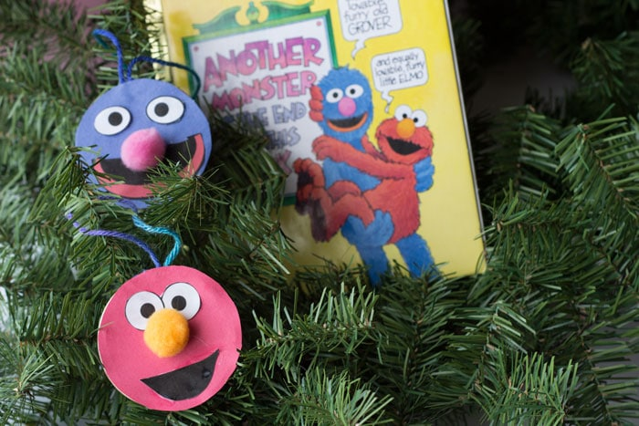 Elmo and Grover double-sided ornaments