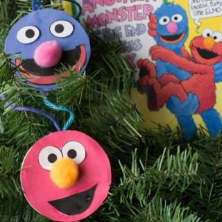 Double-Sided Elmo and Grover Ornaments