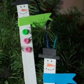 Snowman Popsicle Stick Ornaments