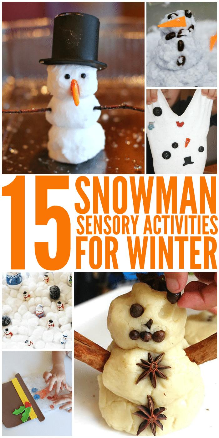 15 Snowman Sensory Activities
