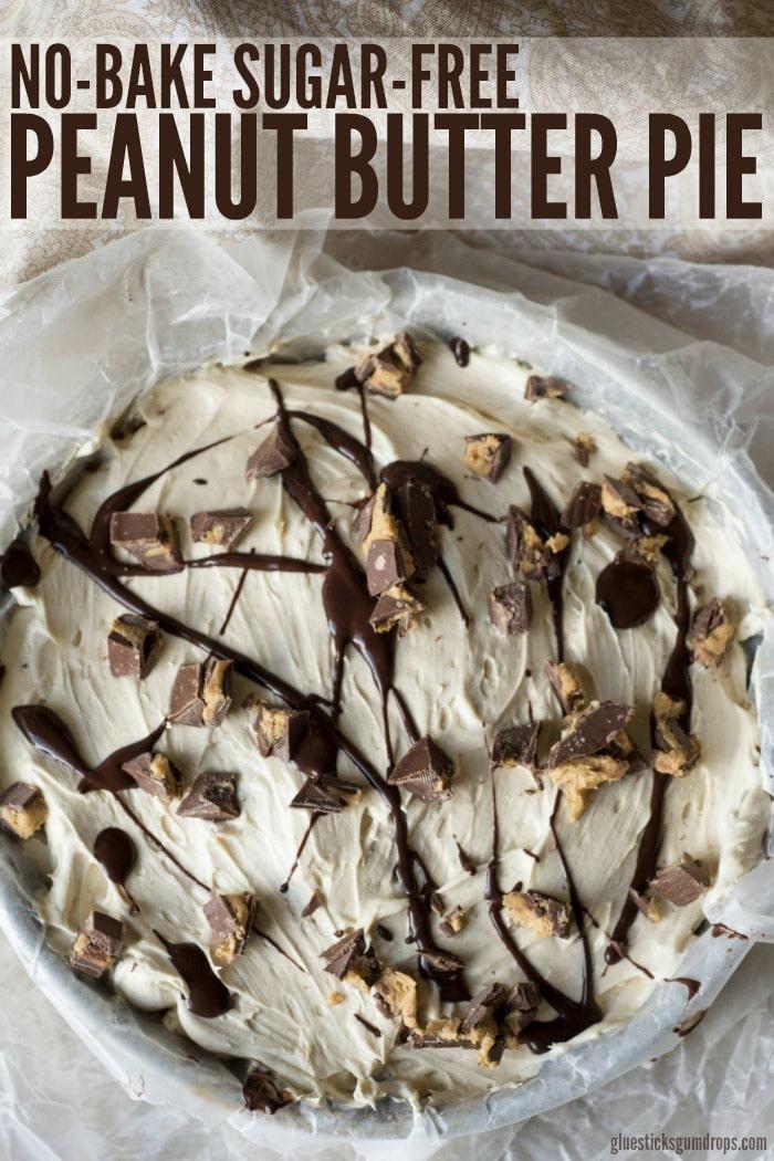 No-Bake Sugar-Free Peanut Butter Pie