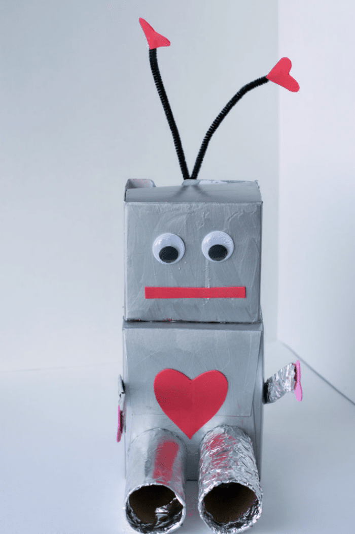 robot valentine box craft for kids