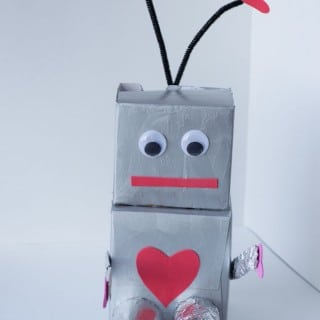 Robot Valentine Box and Fueling Creativity in Kids