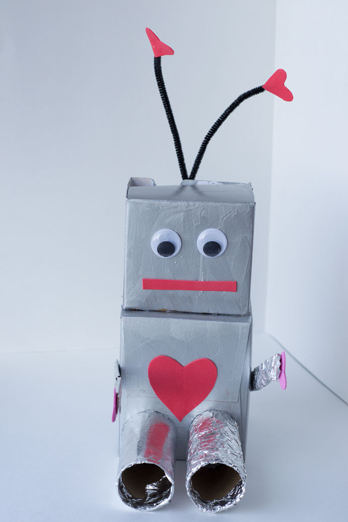 Robot Valentine Box Craft for Preschoolers