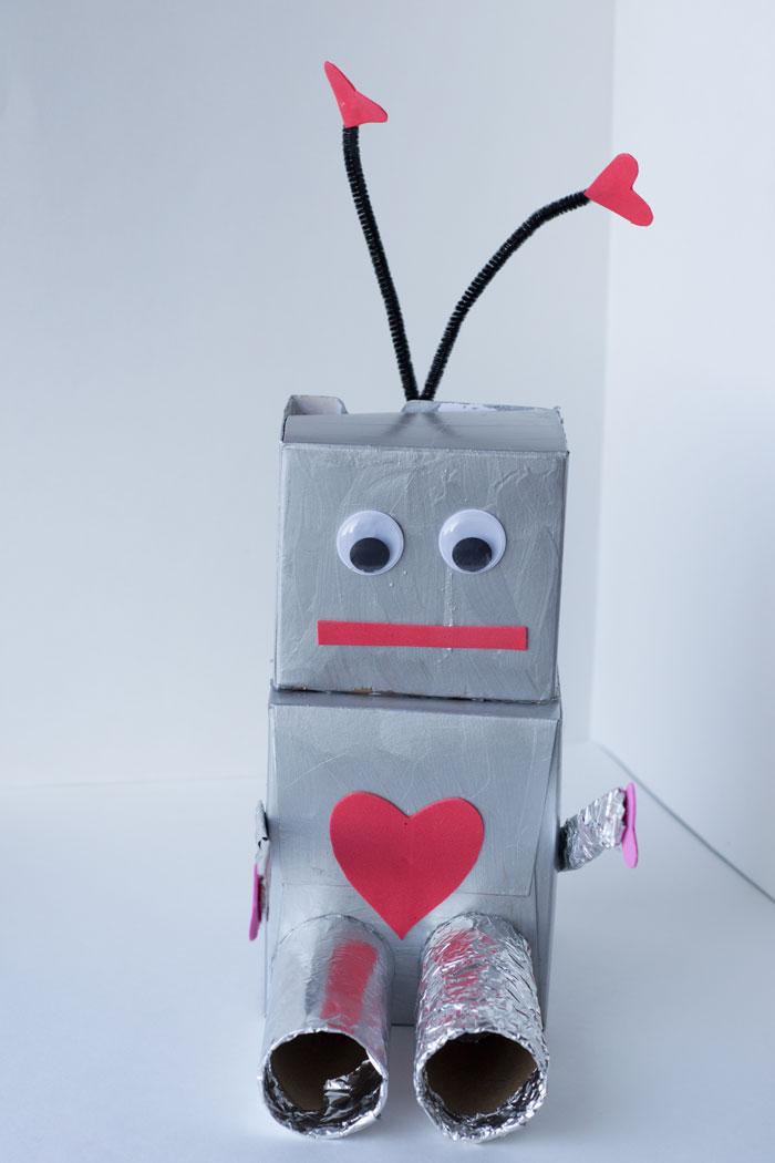 Robot Valentine Box Craft for Preschoolers