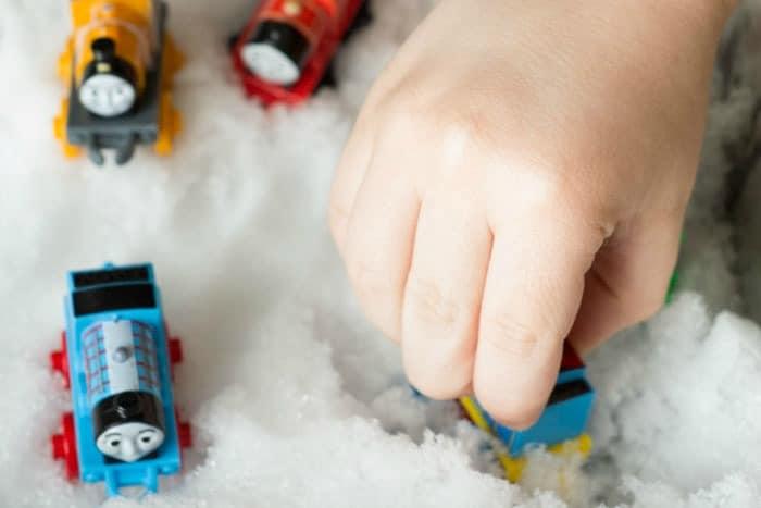 Indoor Sensory Activities with Snow