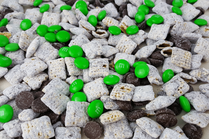 Yummy Muddy Buddies for St. Patrick's Day