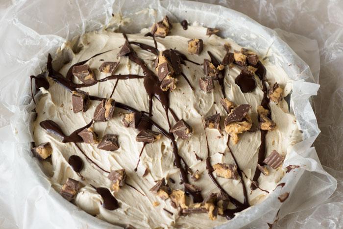 No Bake Peanut Butter Pie - No Sugar!