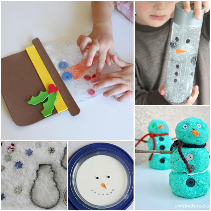 snowman sensory activities 1
