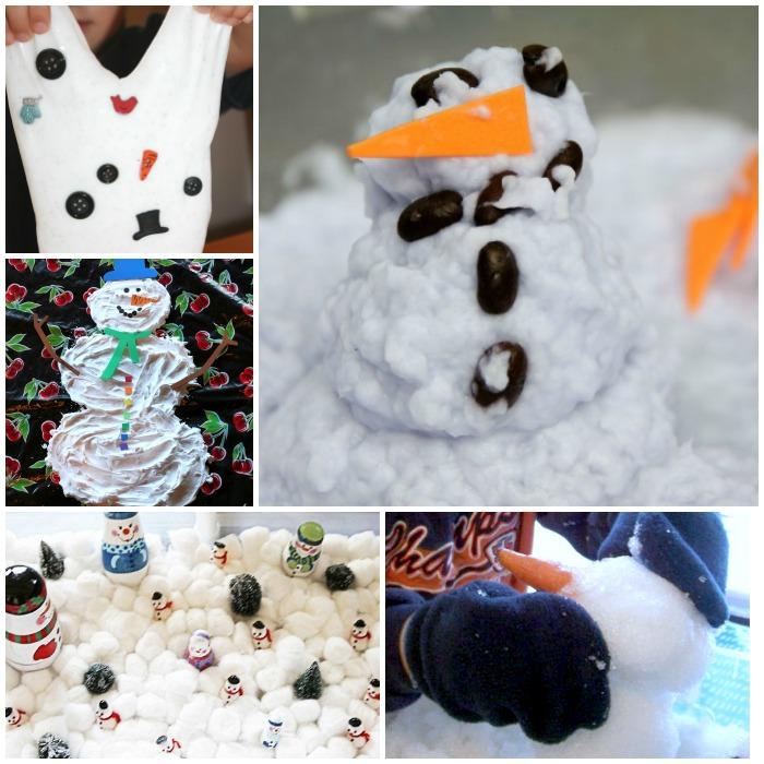 snowman sensory activities 2