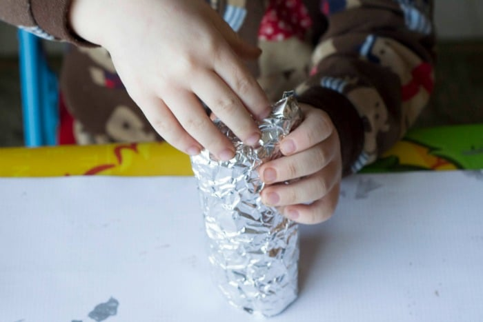 wrapping foil around tp tube