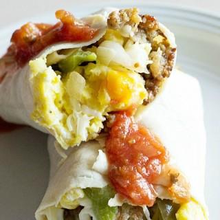 Low Carb Breakfast Burrito square