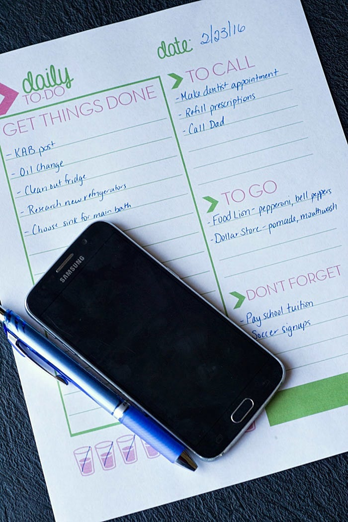 Free Printable Daily To Do List for Busy Moms