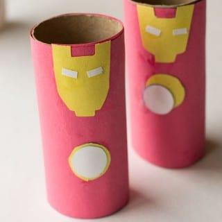 Iron Man Toilet Paper Roll Craft