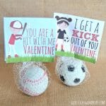 Sports Valentines Printables – Candy Free Valentine's Day Ideas
