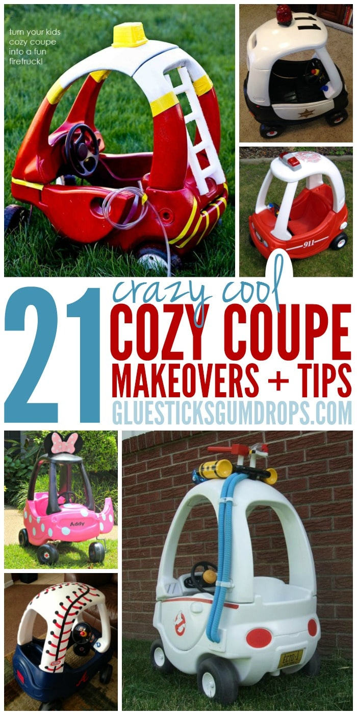 21 Cozy Coupe Hacks To Make Over Your Kids Ride Glue Sticks And