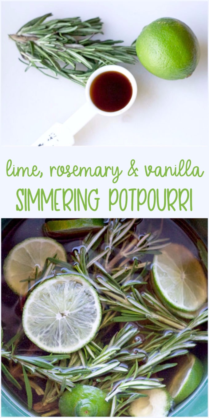 Lime Rosemary and Vanilla Simmering Potpourri