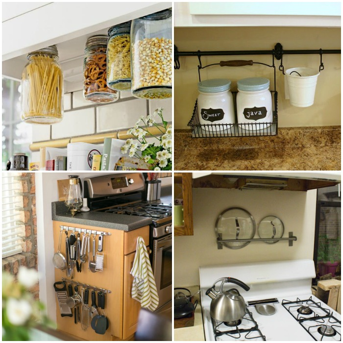 15 clever ways to get rid of kitchen counter clutter for Ideas organizing kitchen cabinets