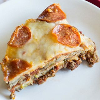 Easy Low Carb Pizza Casserole